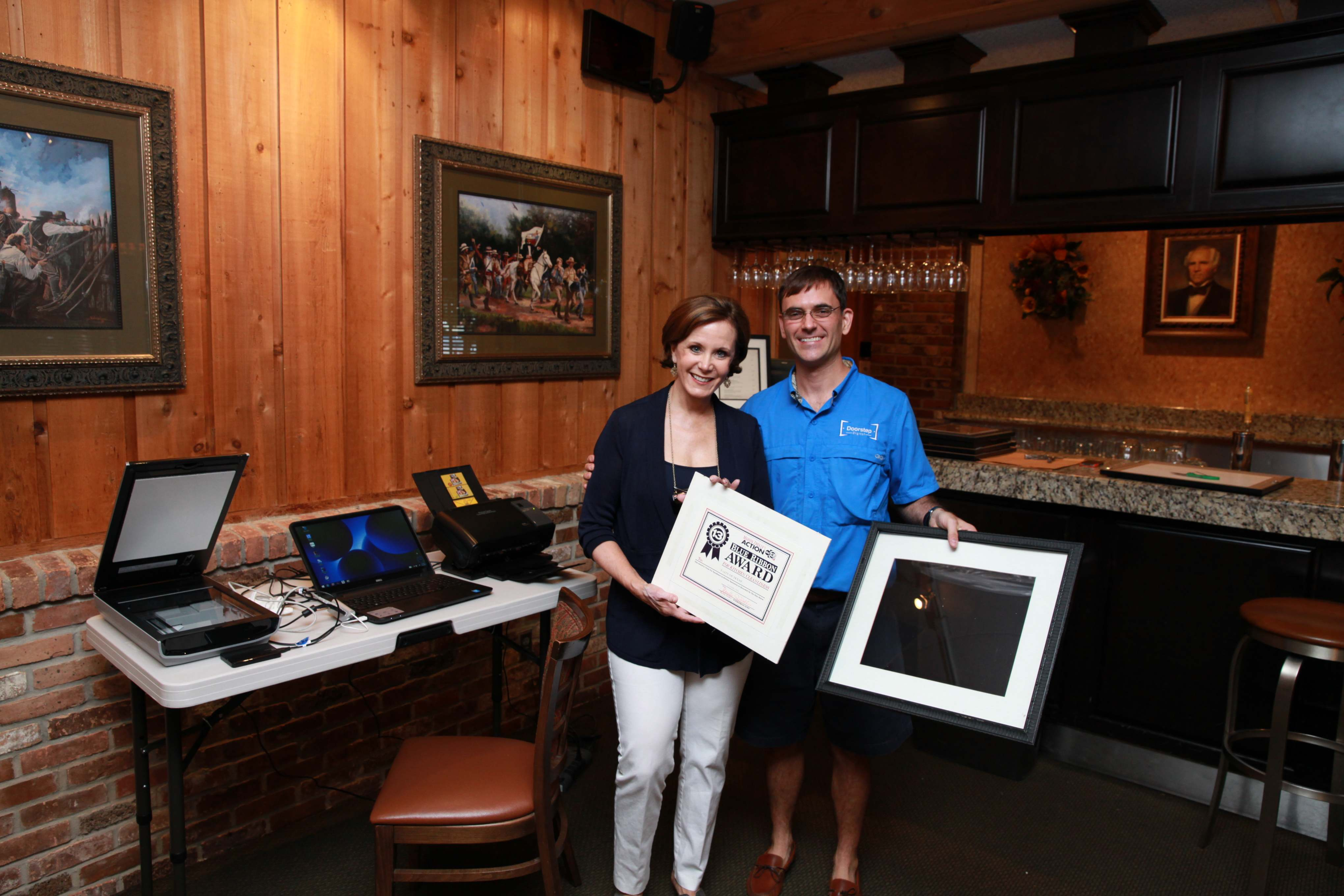 Taste of Texas Restaurant – Awards Photo Scanning Project – Sept 2014