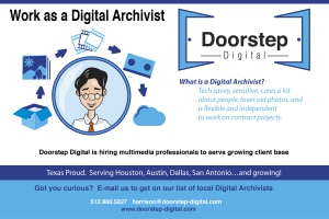 Work as Digital Archivist for Doorstep Digital