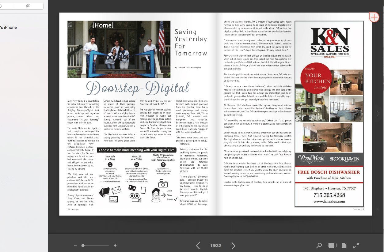 Doorstep Digital - In Town Magazine - Sept 2016